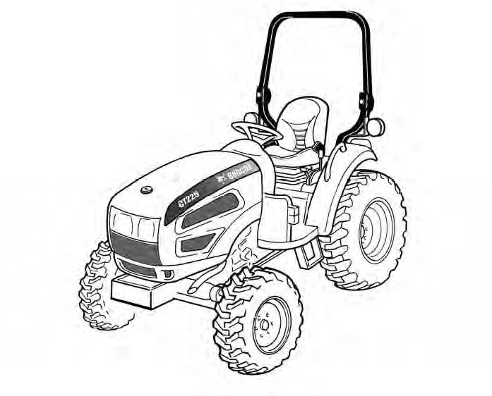 Bobcat Ct225 Ct230 Ct235 Compact Tractor Service Repair Manual