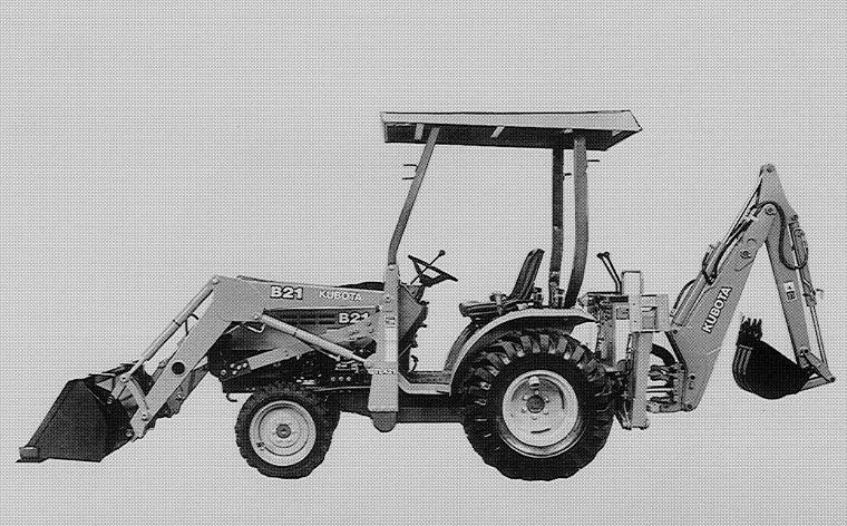 Kubota B21 Tl421 Bt751 Tractor  Front Loader  Backhoe Workshop Manual Download