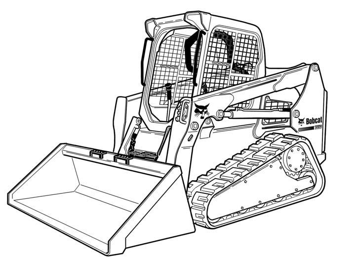 bobcat t590 compact track loader service repair manual download s  n a3nr11001  u0026 above a3ns11001
