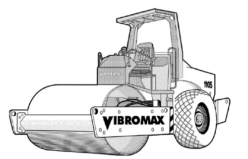 Vibromax 1105 1106 1405 1805 Single Drum Roller Service